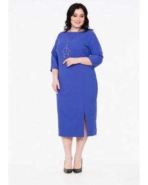 Повседневное платье осеннее фиолетовый Intikoma