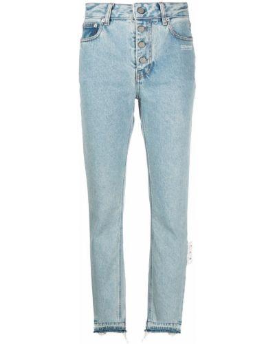 Прямые белые джинсы с высокой посадкой Off-white