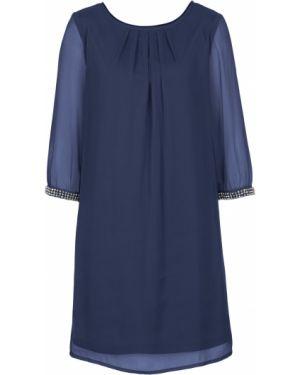 Платье с бисером шифоновое Bonprix