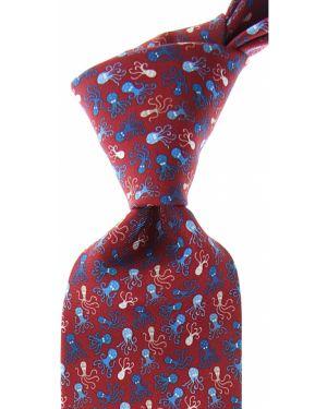 Niebieski krawat z jedwabiu Battistoni