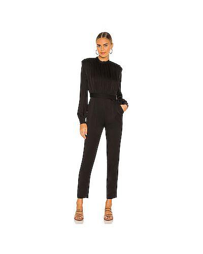 Черный комбинезон с карманами на молнии с декоративной отделкой Veronica Beard
