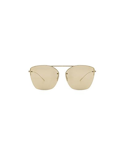 Солнцезащитные очки металлические кожаные Oliver Peoples