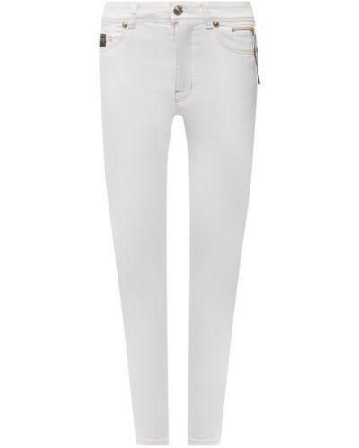 Хлопковые джинсы - белые Versace Jeans Couture