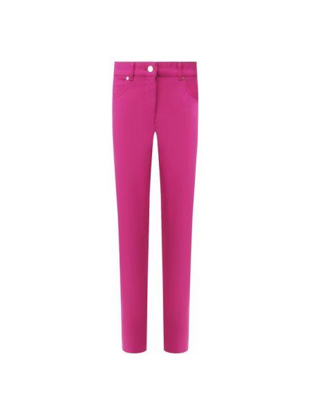 Мягкие хлопковые розовые укороченные джинсы в стиле бохо Escada