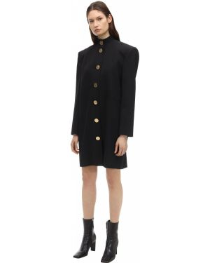 Платье на пуговицах лаковые Balenciaga