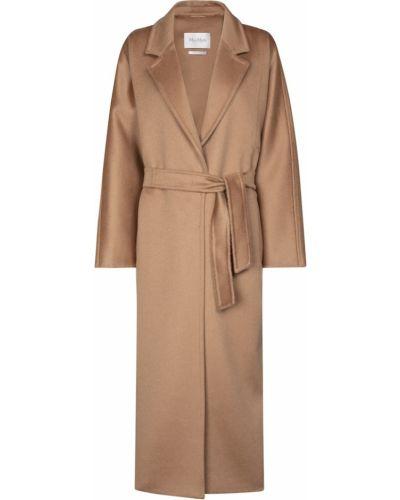 Коричневое кашемировое пальто Max Mara