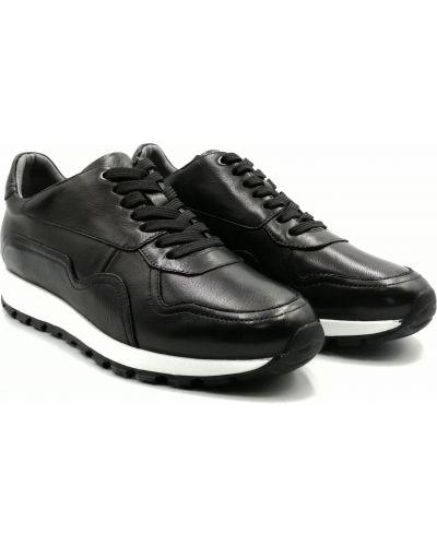 Кожаные кроссовки - черные Anemone