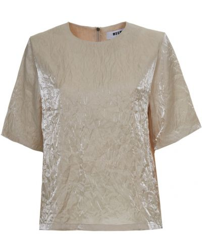 Beżowa bluzka boho Msgm