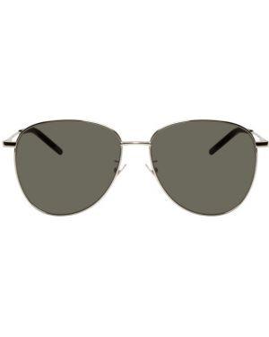 Okulary przeciwsłoneczne zielony czarny Saint Laurent