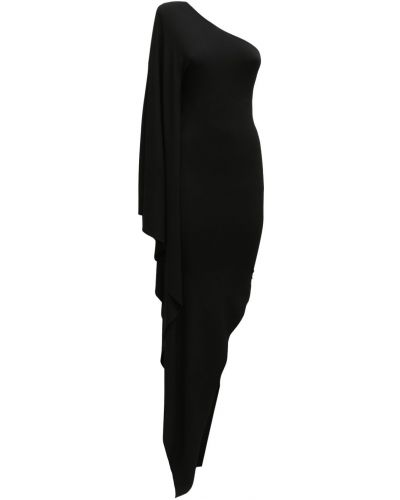 Czarna sukienka midi asymetryczna Alexandre Vauthier