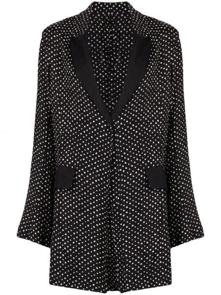 Однобортное черное пальто классическое с потайной застежкой Masnada