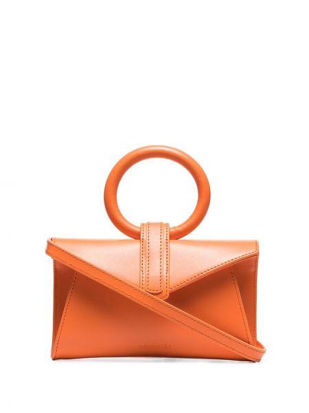 Кожаный оранжевый ремень с поясом Complét