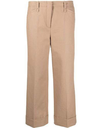 Бежевые брюки с карманами свободного кроя Luisa Cerano