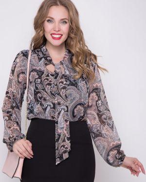 Блузка с длинным рукавом с бантом с принтом Diolche