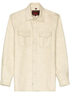 Шерстяная рубашка - бежевая Schott