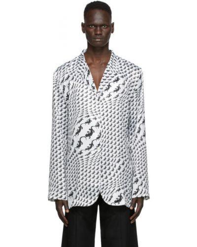 С рукавами белая блузка с воротником Marine Serre