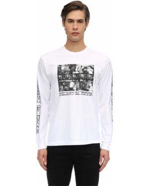 Biały t-shirt z długimi rękawami bawełniany Fact. X Beastie Boys
