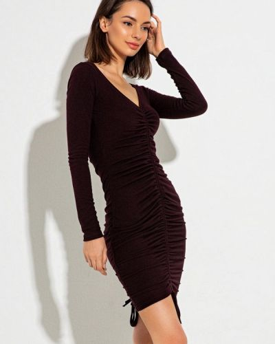 Коричневое вечернее платье Itelle