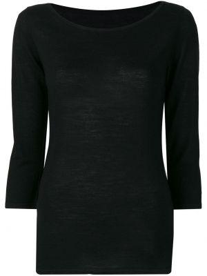 Тонкий черный шерстяной свитер Sottomettimi