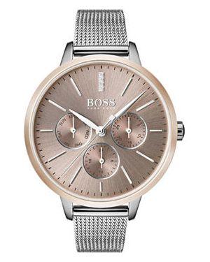 Кварцевые часы серые Hugo Boss