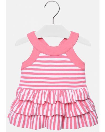 Платье розовый расклешенное Mayoral