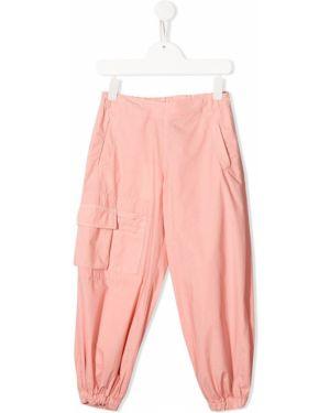 Sportowe spodnie z kieszeniami spodnie chuligańskie Fendi Kids