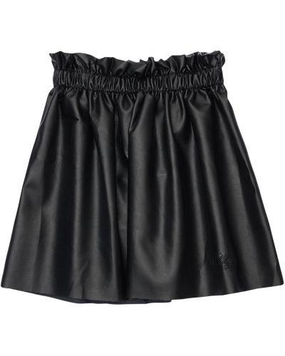 Skórzany czarny spódnica elastyczny Philosophy Di Lorenzo Serafini