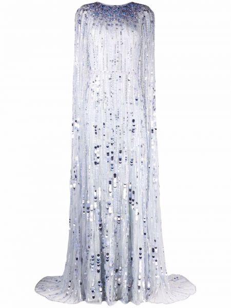 Niebieska sukienka srebrna Jenny Packham