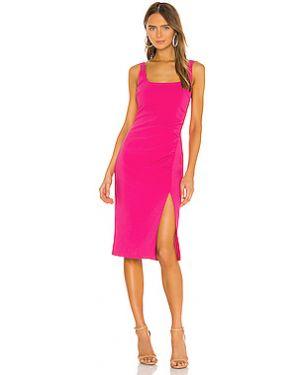 Шелковое плиссированное розовое платье миди на молнии Likely