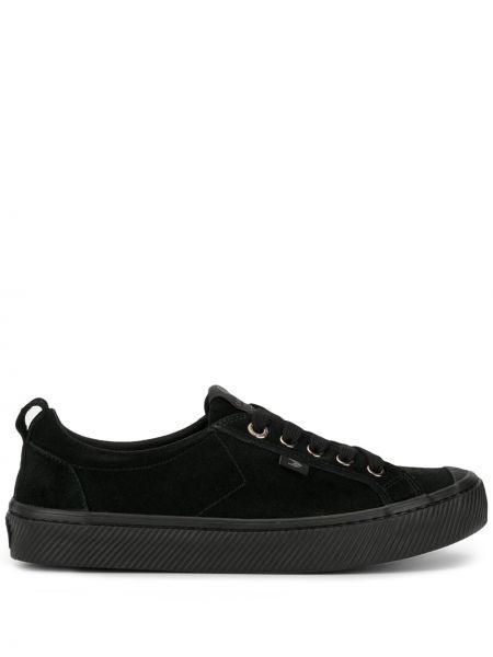 Czarne sneakersy sznurowane koronkowe Cariuma