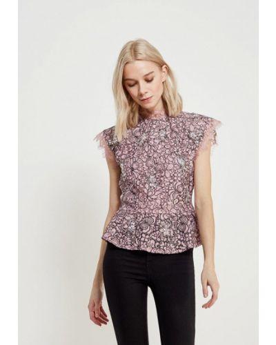 Розовая блузка кружевная Topshop