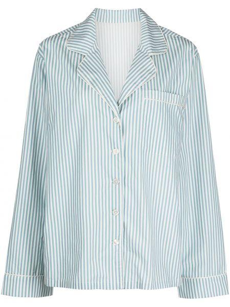 Пижама на пуговицах - синяя Morgan Lane