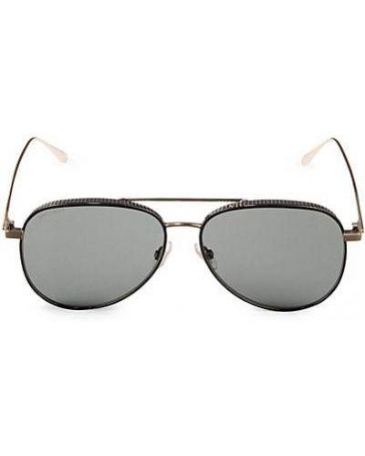 Солнцезащитные очки металлические с опушкой Jimmy Choo