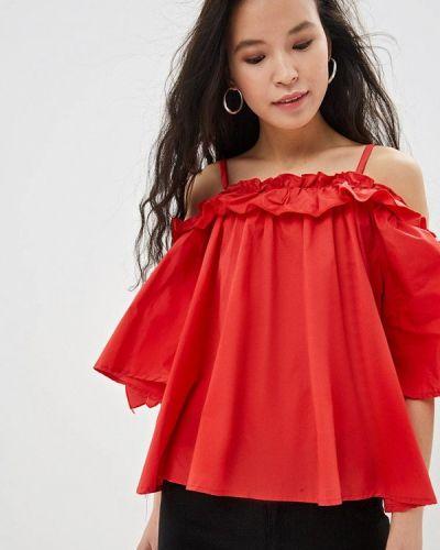 Блузка с рюшами красная Care Of You
