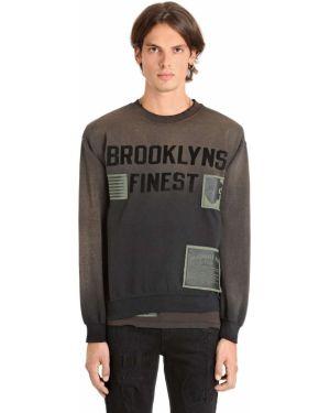 Czarna bluza z haftem bawełniana Madeworn X Jay Z