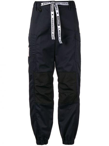 Темно-синие спортивные брюки с поясом с манжетами Lærke Andersen