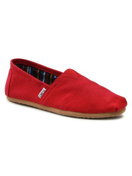 Klasyczne półbuty - czerwone Toms