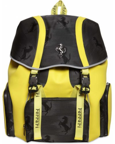 Plecak z klamrą - żółty Ferrari