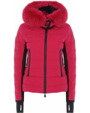 Куртка с капюшоном горнолыжная черная Moncler