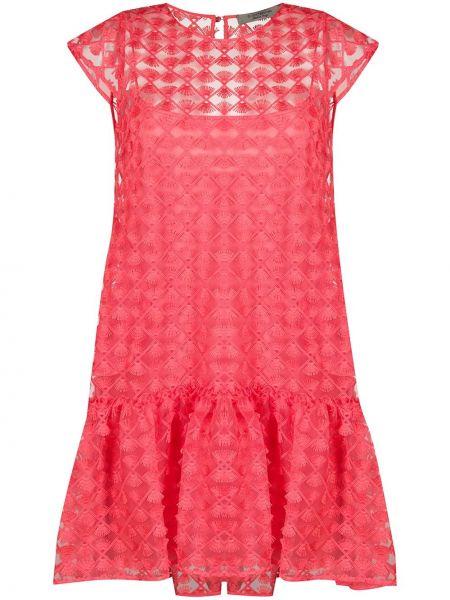 Платье с вышивкой на пуговицах D.exterior