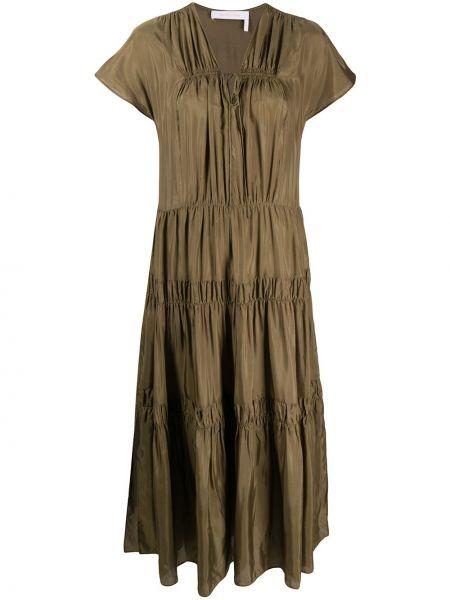 Платье мини с V-образным вырезом с рукавами See By Chloe