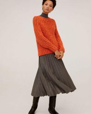 Sweter akrylowy z dekoltem Mango