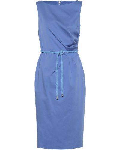 Платье футляр синее Max Mara