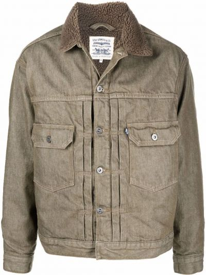 Зеленая куртка на пуговицах Levi's®  Made & Crafted™