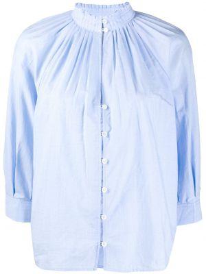 Синяя блузка с воротником из вискозы Frame