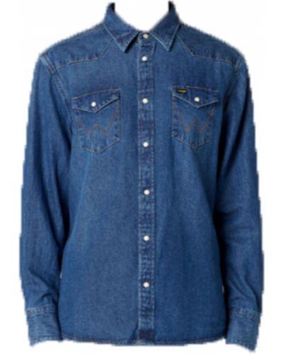 Niebieska koszula jeansowa bawełniana Wrangler