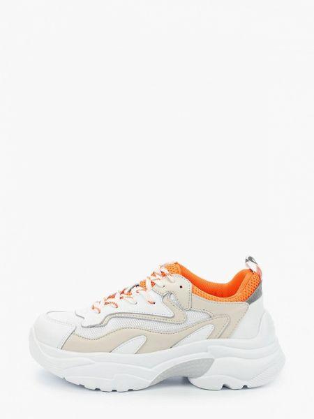Белые высокие кроссовки из натуральной кожи Baden