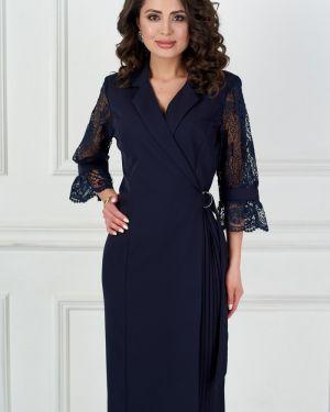 Платье с поясом с запахом с декольте Bellovera