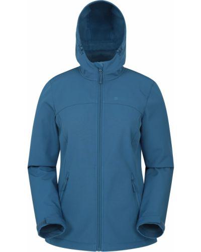 Niebieska kurtka softshell Mountain Warehouse