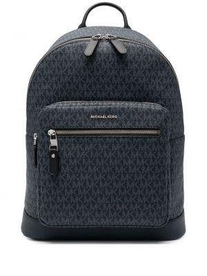 Синий кожаный рюкзак на молнии Michael Kors